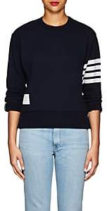 Thom Browne Women's Block-Striped Cashmere-Cotton Sweatshirt - Navy