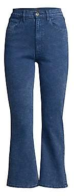3x1 Women's Empire Slim-Fit High-Rise Crop Flare Jeans