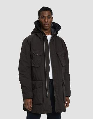 Stone Island David TC Down Hooded Coat in Anthracite