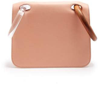 Roksanda Neneh Wooden Handle Leather Clutch - Womens - Nude