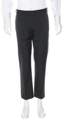 Prada Herringbone Woven Dress Pants