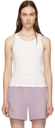adidas By Danielle Cathari by Danielle Cathari White Rib Tank Top
