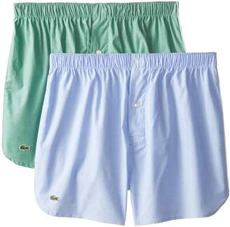 Lacoste Men's 2-Pack Authentic Chambray Woven Boxer