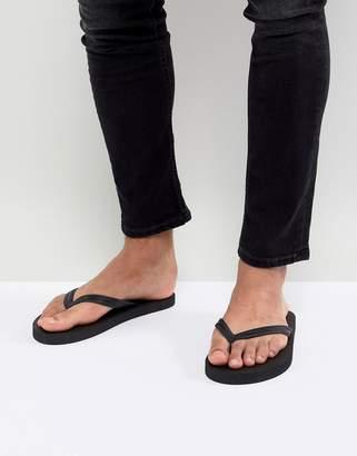 Asos DESIGN Flip Flops In Black