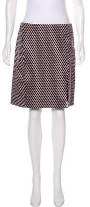 Wes Gordon Virgin Wool Patterned Skirt