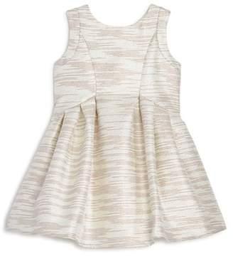 Us Angels Girls' Striped Jacquard Dress - Little Kid