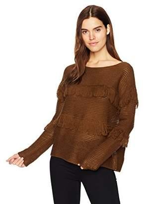 Lucky Brand Women's Fringe Pullover Sweater