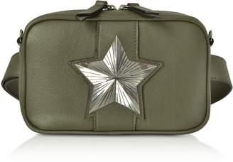 Les Jeunes Etoiles Leather Vega Belt Bag W/chain Strap