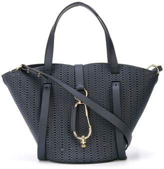 Zac Posen Belay small perforated tote