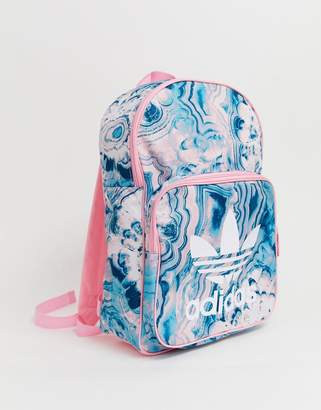 adidas pink print backpack