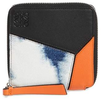 Loewe Small Puzzle Leather Zip Around French Wallet