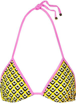 Diane von Furstenberg Moss Printed Bikini Top - Yellow