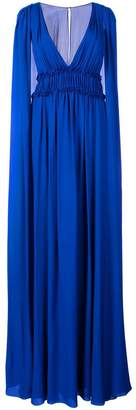 Marchesa georgette cape gown