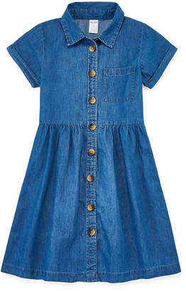 Arizona Girls Short Sleeve Cap Sleeve Shirt Dress