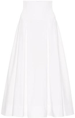 Gabriela Hearst Corrales cotton midi skirt