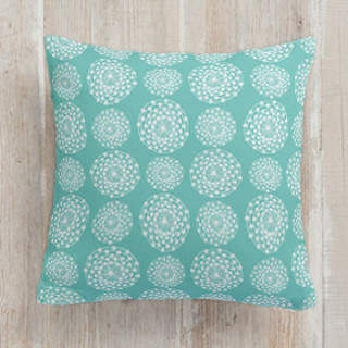 Floral Circle Mix Square Pillow