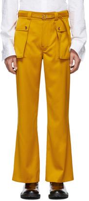 Sies Marjan Yellow Ragen Flare Trousers