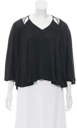 Doo.Ri Short Sleeve High-Low Top Black Short Sleeve High-Low Top