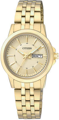 Citizen Women's Gold-Tone Stainless Steel Bracelet Watch 27mm EQ0603-59P