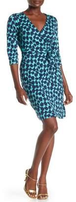 Diane von Furstenberg Julian Two Geometric Print Wrap Dress
