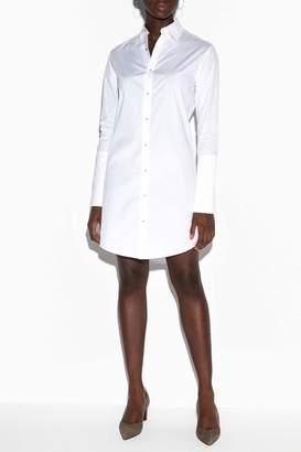 Misha Nonoo The Husband Shirt Dress With Silver Studs