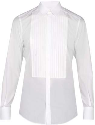 Dolce & Gabbana Johnny pleated cotton dress shirt