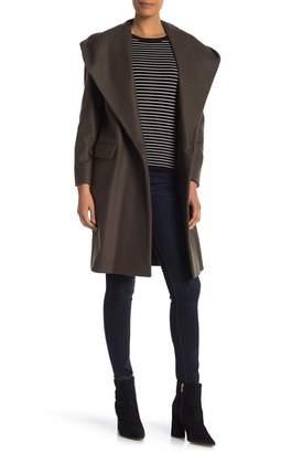 AllSaints Scala Wool Blend Hooded Coat