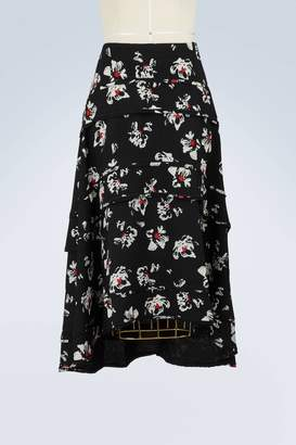 Proenza Schouler Tiered printed skirt