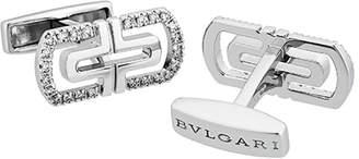 Bvlgari 18k Parentesi Diamond Cuff Links