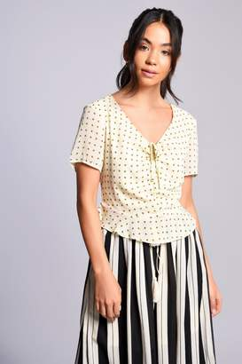 Glamorous **Floral Ruched Blouse by Tall