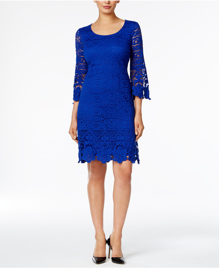 Alfani Crochet-Trim Illusion Dress, Only at Macy's 12