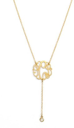 Women's Argento Vivo Personalized Three Initial Y-Necklace $138 thestylecure.com