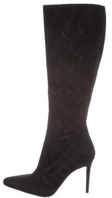 Christian Louboutin Metallic Knee-High Boots