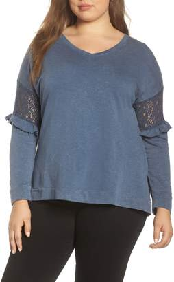 Wit & Wisdom Lace Inset Top