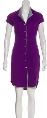 Antipodium Short Sleeve Knee-Length Dress