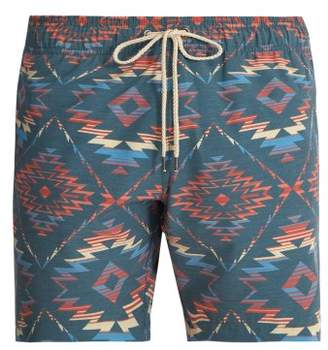 Faherty Chankillo Aztec Print Swim Shorts - Mens - Blue Multi