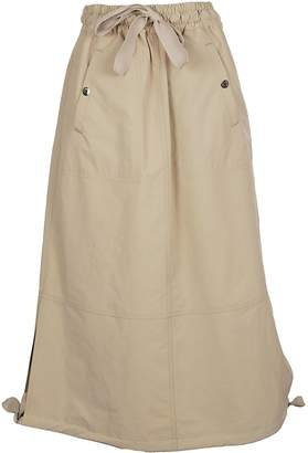 Moncler Drawstring Long Skirt