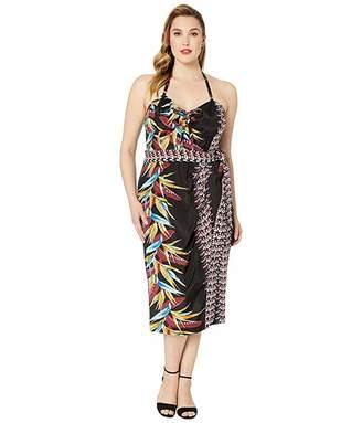 Unique Vintage Plus Size Kamehameha Sarong Dress