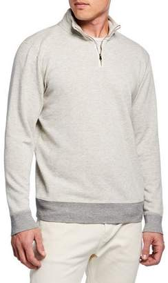 Faherty Men's French Terry Quarter-Zip Sweater