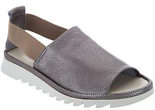 The Flexx Leather Peep Toe Sandals- Shoreline