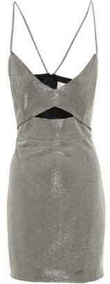 Mason by Michelle Mason Cutout Lame Mini Dress