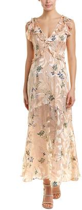Reiss Almeria Silk-Blend Maxi Dress
