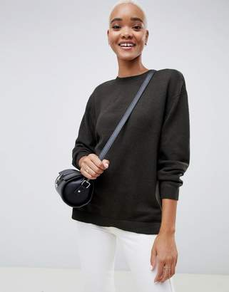 Asos Oversized Jumper With Crew Neck