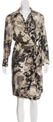 Dries Van Noten Wool Floral Pattern Dress