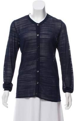 Saint Laurent Open Knit Long Sleeve Cardigan