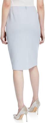 Lafayette 148 New York Mid-Rise Wool Pencil Skirt