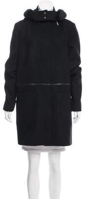 Zac Posen Parker Faux Fur-Trimmed Coat w/ Tags