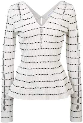 Narciso Rodriguez perforated sleeves jumper