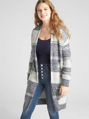 Gap Textured Open-Front Pattern Cardigan Sweater