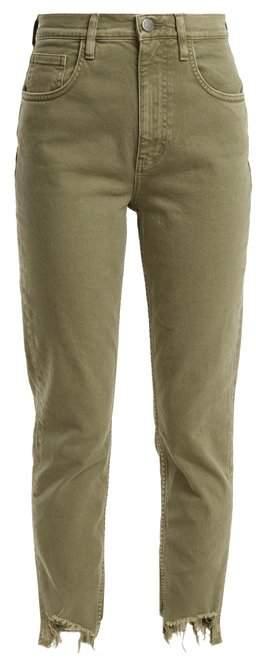 Mimi raw-hem high-rise straight-leg jeans